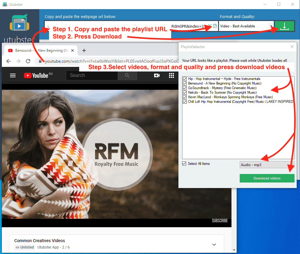 How to convert YouTube playlists to MP3 music
